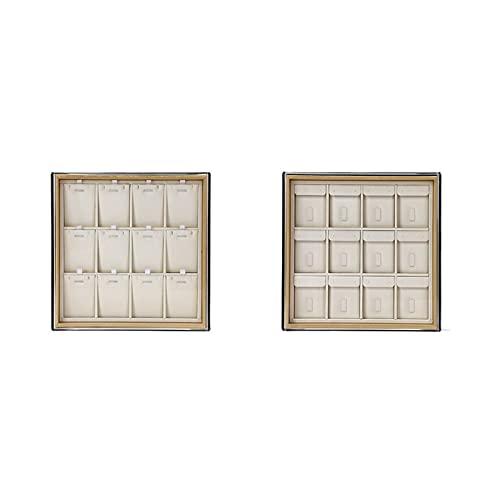 XIAOFANG 2 PCS Bandeja de inspección de Joyas con Tapa, Anillo y Collar Disparo de Pantalla de Almacenamiento, Accesorios de exhibición de Jade (Color : Type B)
