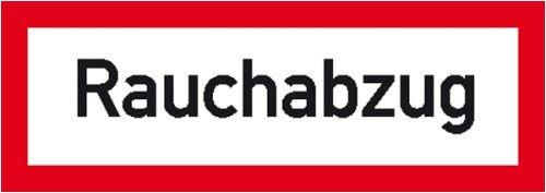 0950. Hinweisschild für den Brandschutz Rauchabzug Folie selbstklebend, retroreflektierend[3M] Größe 29,70 cm x 10,50 cm