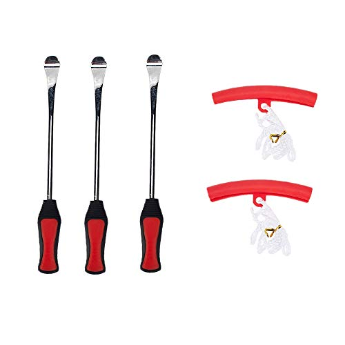 Beada Tres cucharas de motocicleta cambiador de neumáticos palancas de hierro herramienta de cambio con kit de protector de llanta