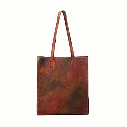 Y-hm Moda Bolsa de Compras de Gamuza de Gamuza de Gran Capacidad de Nuevo Retro de Las señoras. Diseño Ligero (Color : Retro Color, Size : 30 * 12 * 33cm)