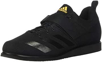 adidas Men's Powerlift 4 Cross Trainer, Black/Black/Solar Gold, 10.5