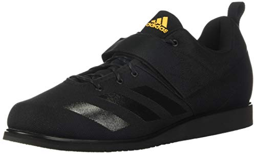 adidas Men's Powerlift 4 Cross Trainer, Black/Black/Solar Gold, 12