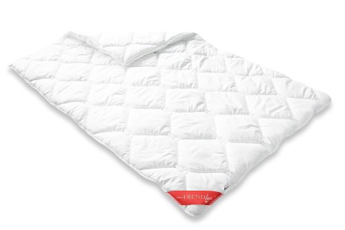 Badenia Bettcomfort Trendline Duo Winterdecke Steppbett Micro Kochfest, 155 x 220 cm, weiß