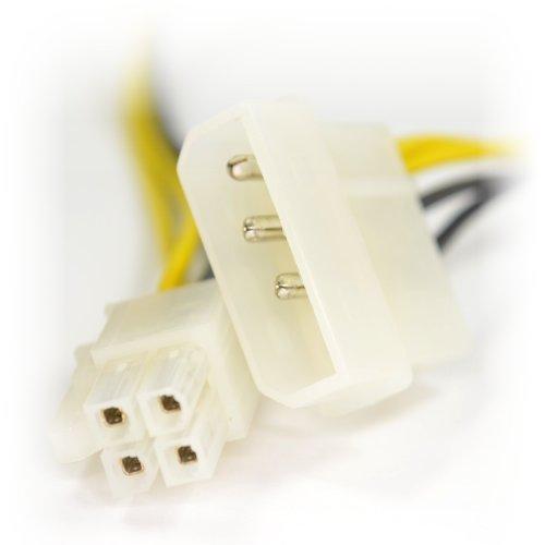 kenable LP4 Molex Zum ATX P4 64bit 4 Polig Konverter Strom Adapter Kabel Anschlusskabel