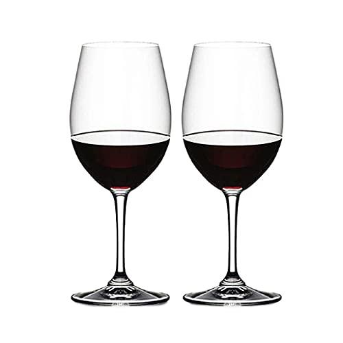 Kieliszki do wina Niezbyt odsuwane czerwone kieliszki do wina, plastikowe szatroszczelne kielichy z winem, wolne odłowiu jasne Klasyczne szkło wina 560ml, zestaw 2 Kieliszki