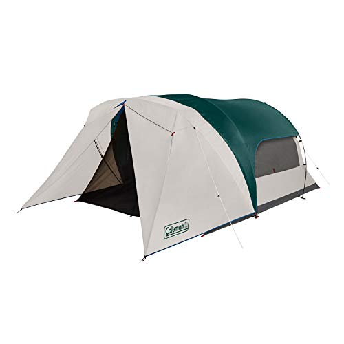 Coleman Cabin Camping Tent with Weatherproof Screen Room | 6 Person Cabin Tent with Enclosed Screened Porch, Evergreen