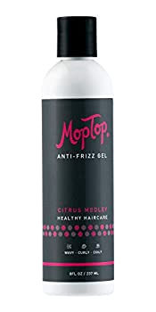8oz MopTop Salon Anti-Frizz Medium Hold Gel for Curly & Kinky-Coily Thick Natural hair made w/ Aloe Sea Botanicals & Honey reduces Frizz increases Manageability & Enhances Curls.