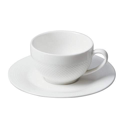 SXXYTCWL Taza de café de cerámica y platillo conjunto Taza de café de café espresso asado a alta temperatura con taza de mango grabado Adecuado para hotel Restaurante Lavavajillas Microondas Copa de s