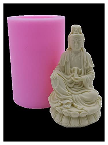 3D Buddha Flexible Silikon Seifenform Silikon Kerzenformen Für DIY Handgemachte Seife Handwerk Kunstform (Color : D)