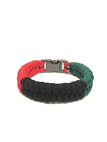 TRU550 African American Flag Mens & Women Paracord Survival Bracelet Jewelry (Size 8.0)
