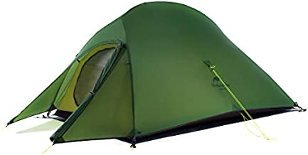 Naturehike Cloud-Up 2 Person Lightweight Backpacking Tent with Footprint - 3 Season Free Standing Dome Camping Hiking Waterproof Backpack Tents(20D Forest Green)