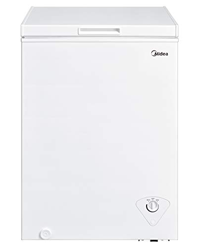 Midea MRC04M3AWW Single Door Chest Freezer, 3.5 Cubic Feet, White