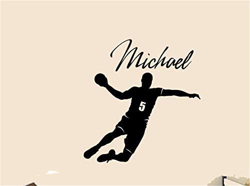 Wandtattoo Wohnzimmer Wandtattoo Schlafzimmer Handball Player Aufkleber benutzerdefinierten Namen Wand personalisierte Aufkleber Dekor