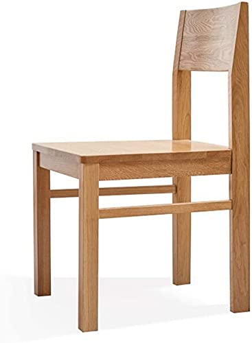ZGYZ Solid Wood Dining Chair Modern Simple Oak Chair with Curved Backrest,Widened Seat,Home Lounge Chair Ideal for Kitchen,Living Room,Family Practical Chair