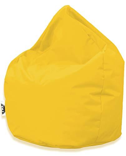 PH Patchhome Sitzsack Tropfenform - Gelb für In & Outdoor XXL 420 Liter - mit Styropor Füllung in 25 versch. Farben und 3 Größen