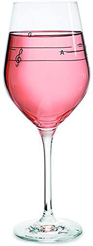Donkey Products - Glass of Music | Cooles Weinglas mit Tonleiter - bringt dein Glas zum singen - 540ml