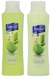 Suave 3 Pack Naturals Shampoo & Conditioner Set, Juicy Green Apple, 12 Ounce Each