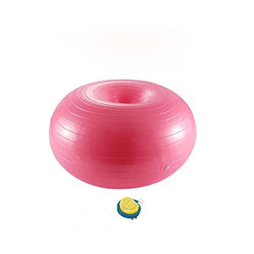 JIEOR Pelota de gimnasia, para aparatos pequeños y sillas de equilibrio, en el gimnasio, en casa, en la oficina, en gimnasia, pilates, color rosa