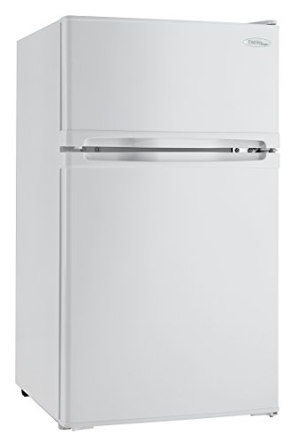 Danby DCR031B1WDD 3.1 Cu.Ft. Compact Refrigerator with Freezer, E-Star Rated Mini Fridge for Bedroom, Living Room, Kitchen, or Office, White