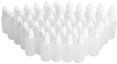 Wowlife Clear 5ml/10ml/8ml/15ml/20ml/30ml/50ml White Plastic Empty Squeezable Dropper Bottles 50 Pcs Eye Liquid Dropper with Caps (5ml)