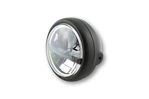 Motorize-HIGHSIDER 5 3/4 Zoll LED-Scheinwerfer PECOS TYP 5, schwarz matt