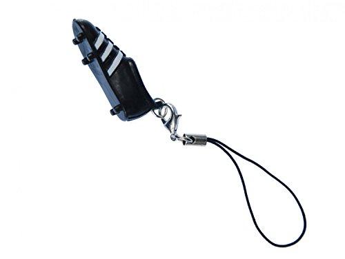 Miniblings Fußballschuh Handyanhänger Handyschmuck WM Fußball EM schwarz weiß