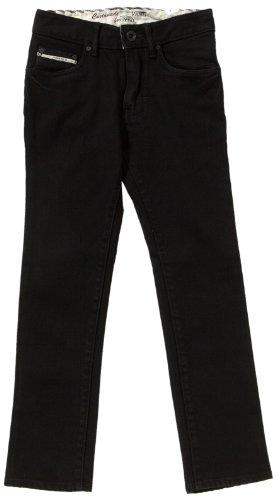 Vans Jungen Jeans V76 Skinny, Schwarz (Overdye Black), W26/L27