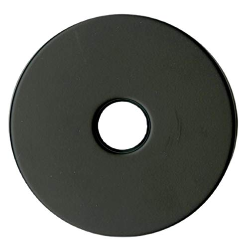 """Corla Modern Extra Large Shower Arm Flange 3.5"""" Replacement Escutcheon Cover Plate (Matte Black)"""
