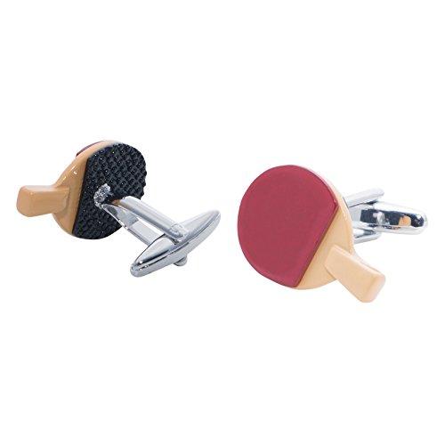 Gemelli con scatola di presentazione e base metal, colore: Multi, cod. Table Tennis Bats