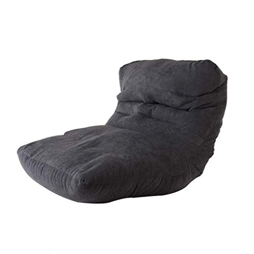 LuoMei Lettino per Adulti Divano Pigro Bean Bag Lettino London Sofa Chaise Lounge Ergonomico in Pelle Artificiale o Tessuto Lettino da Terra Sedia da Terra Poltrona Reclinabile Morbido Invio Gratuito