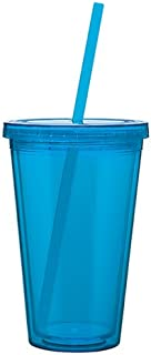 Eco To Go Cold Drink Tumbler - Double Wall -16oz. Capacity - Aqua
