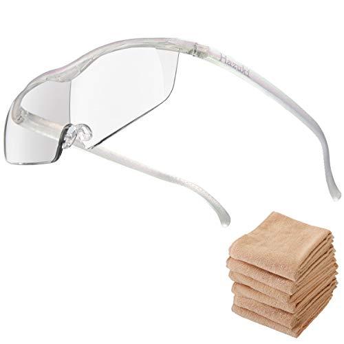 Hazuki ハズキルーペ ラージ 1.6倍 ブルーライト対応 クリアレンズ パール (全9色) 【正規代理店品・メーカー保証付】 セブンエステ製フェイスタオル付 [ ハズキ 拡大眼鏡 拡大鏡 拡大レンズ 拡大メガネ 眼鏡型 めがね型 メガネタイプ 眼鏡