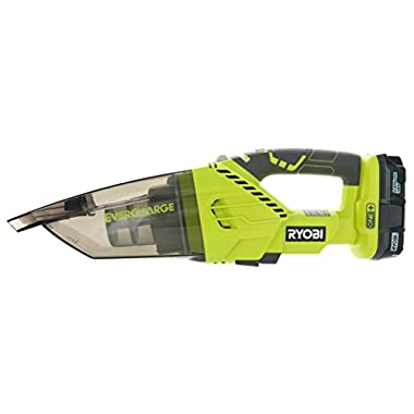 Ryobi P714K One+ 18 Volt Lithium Ion Cordless Wall Mounted Dry Hand Vacuum Kit (3 Pieces: 1 x Ryobi P714K Vacuum, 1 x Ryobi P102 1.3AH Lithium Ion Battery, 1 x Wall Mount Charger)