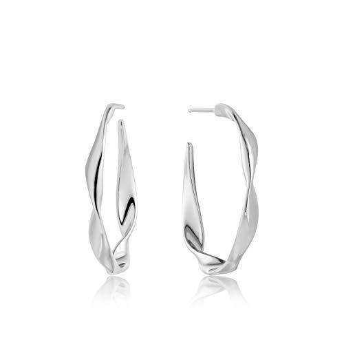 Twister Twist Hoop earrings silver E012-04H