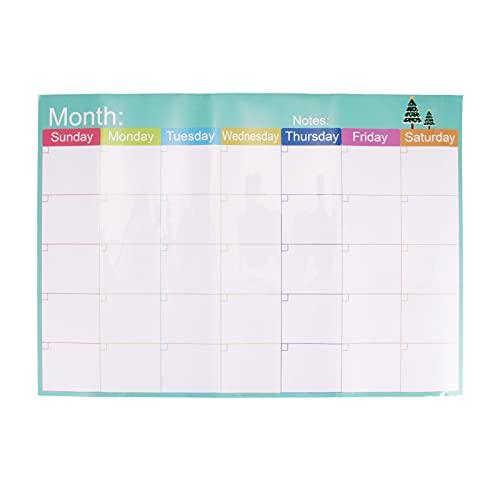 Planificador mensual magnético de pizarra blanca borrable calendario de nevera fácil de limpiar semanal con borrador magnético marcadores y clavos para cocina, dormitorio, hogar, oficina, escuela