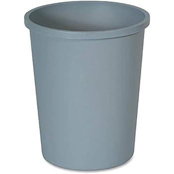 Rubbermaid Commercial Untouchable Trash Can 11 Gallon Gray FG294700GRAY