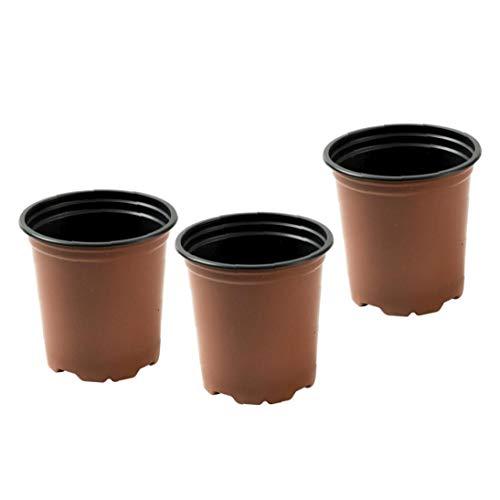 DierCosy Plastic Plant Pot semilleros Ollas de Jardinero (Paquete de 100)