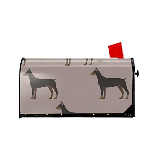 Sunny R Willkommen Mailbox Abdeckungen Lustige Cartoon Dobermann Hund Magnetisch Verpackt Briefkasten Briefkasten Abdeckung für Garten Hof Dekor 21x18 Zoll
