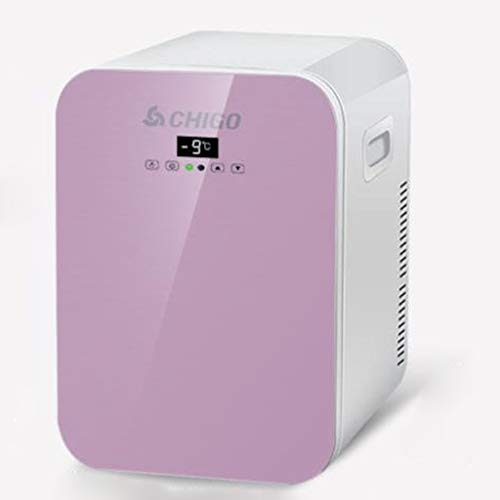 LT 20L Auto Koelkast Dual Core-koeling, compacte koeler/warmer draagbare elektronische single deurs mini-koelkast, Cnc-versie roze