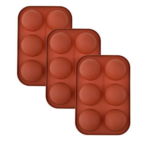 Mavllagu 3-Pack Medium Semi Sphere Silicone Mold, Silicone Baking Molds for Making Chocolate, Cake, Jelly, Dome Mousse
