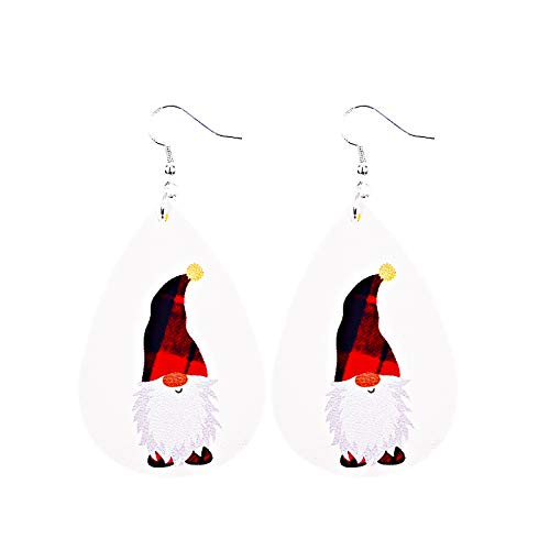 jieGorge Christmas Fashion Trend Personality Leather Pattern Drop Earrings Jewelry Gift, Earrings,for Christmas Day (C)