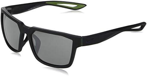 Nike EV0992 440 Fleet Sunglasses Frame Grey with Silver Flash Lens Matte Obsidian product image