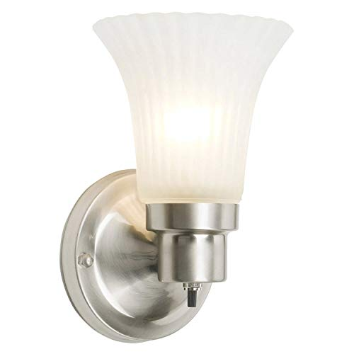 Design House 504977 1 Light Wall Light, Satin Nickel