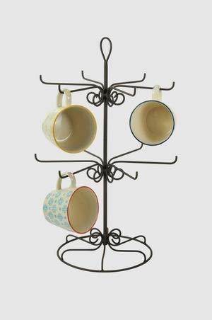 Tassenhalter Ständer aus Metall Tassenständer Vintage Shabby Höhe 44cm