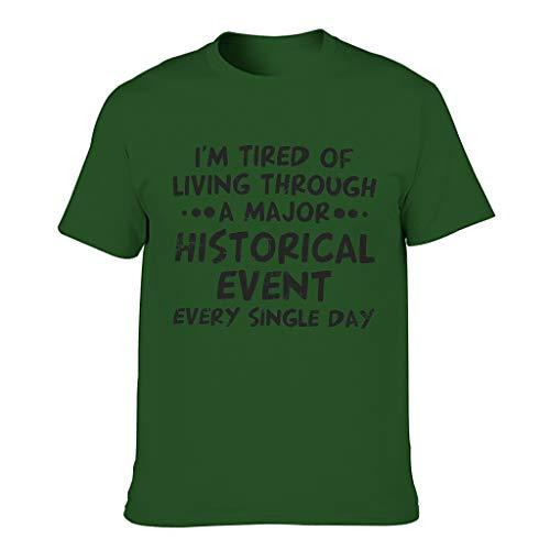 Camiseta de algodón para hombre, multicolor, respetuosa con la piel, diseño de camiseta Dark Green001. XL