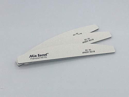 Mia Secret Half Moon Nail File/Speedy White 180/180-100/100-80/80 Pick yours (80/80 Black center)