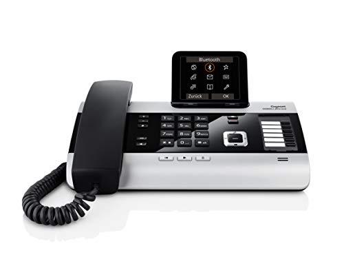 Gigaset DX800A All-In-One ISDN-Telefon mit Anrufbeantworter, VOIP oder Festnetz-Telefonie, mit Bluetooth, titanium