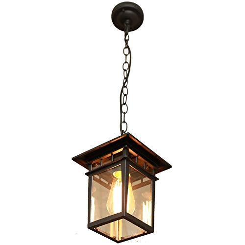 Outdoor hanglamp, waterdicht, roest, tuin, hanglamp, kroonluchter, creatieve E27 Edison glazen hanglamp, Villa Terras Pavilion Garage, plafondverlichting