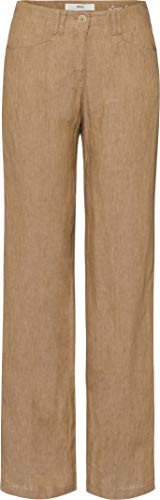 BRAX Damen Style Farina Leinenhose mit legerer Silhouette Hose, Beige, 42
