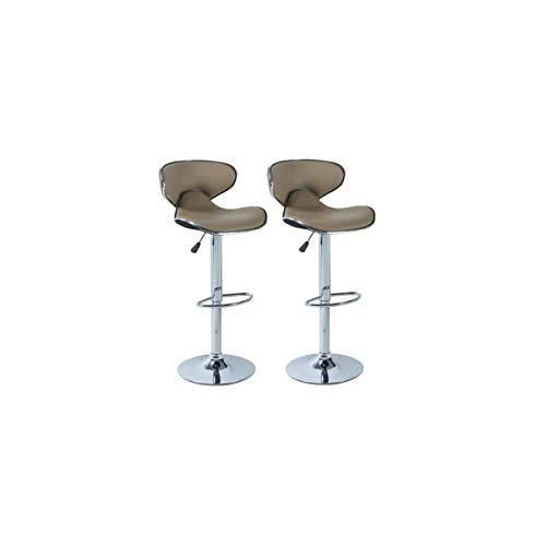 YORK Set van 2 verstelbare barkrukken - Taupe - Hedendaags - L 51 x D 50 cm